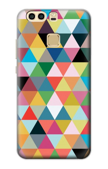 Printed Triangles Vibrant Colors Huawei P9 Plus Case