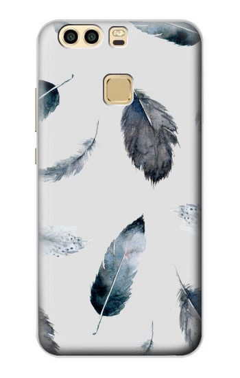 Printed Feather Paint Pattern Huawei P9 Plus Case