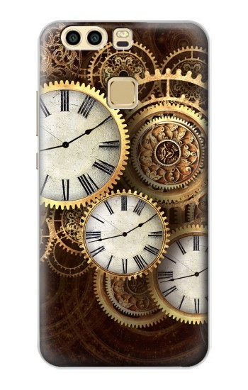 Printed Gold Clock Live Huawei P9 Plus Case