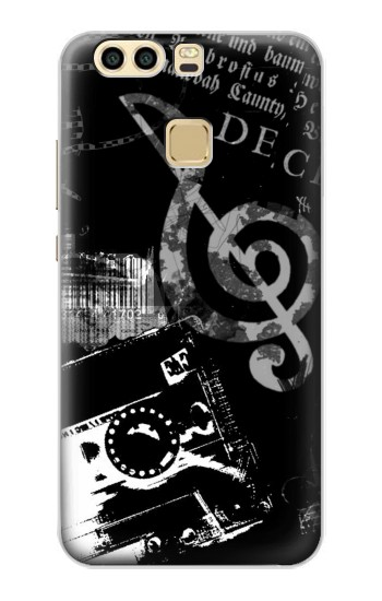 Printed Music Cassette Note Huawei P9 Plus Case