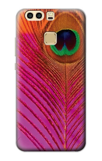 Printed Pink Peacock Feather Huawei P9 Plus Case