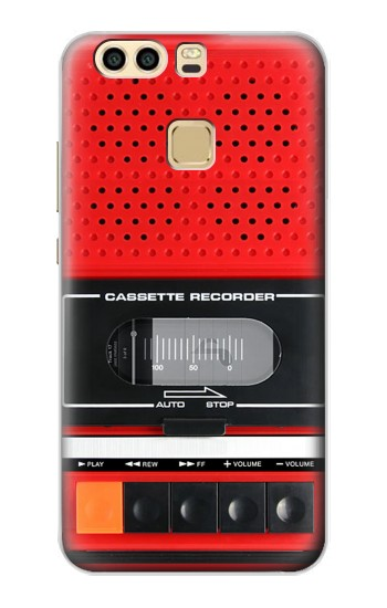 Printed Red Cassette Recorder Graphic Huawei P9 Plus Case