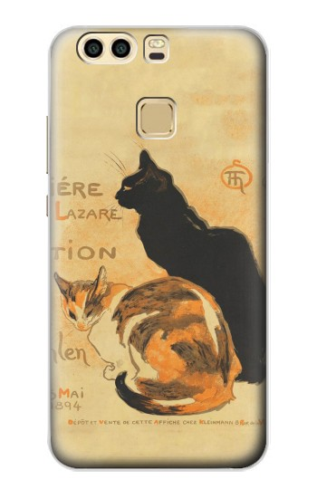 Printed Vintage Cat Poster Huawei P9 Plus Case