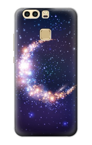 Printed Crescent Moon Galaxy Huawei P9 Plus Case
