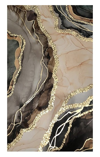 Printed Marble Gold Graphic Printed iPad Air 3 Case