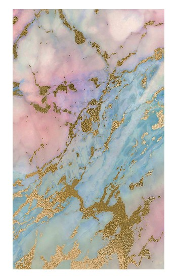 Printed Rose Gold Blue Pastel Marble Graphic Printed iPad Air 3 Case