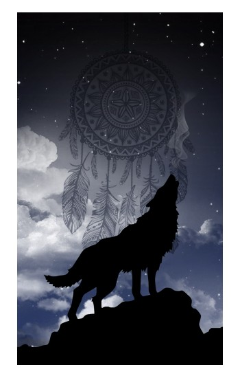 Printed Dream Catcher Wolf Howling iPad Air (2020) Case