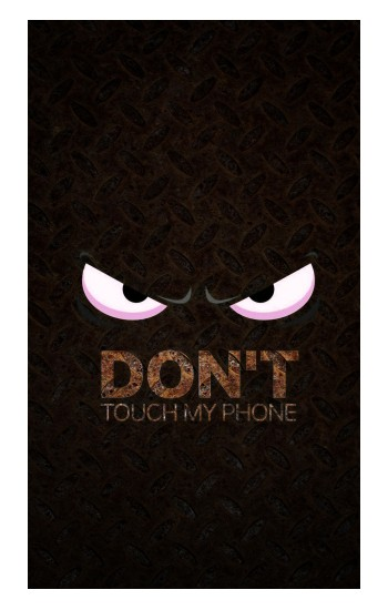Printed Do Not Touch My Phone iPad Air (2020) Case