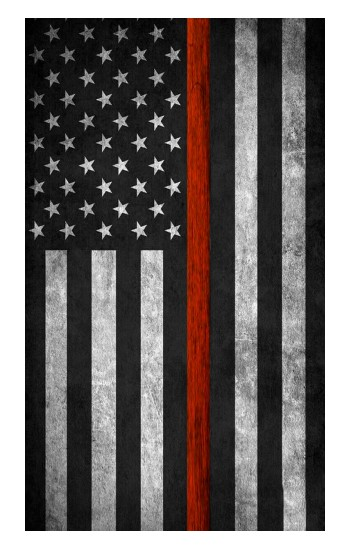 Printed Firefighter Thin Red Line Flag iPad Air (2020) Case