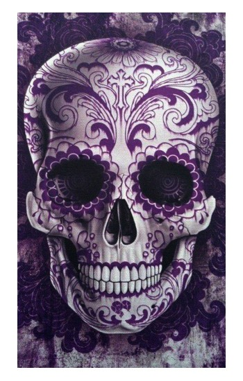 Printed Purple Sugar Skull iPad Air (2020) Case