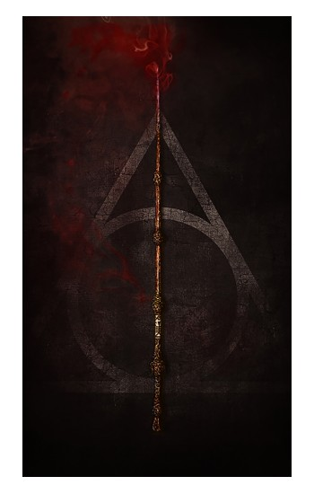 Printed Deathly Hallows Magic Wand Red iPad Air (2020) Case