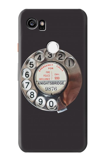 Printed Retro Rotary Phone Dial On HTC One X9 Case