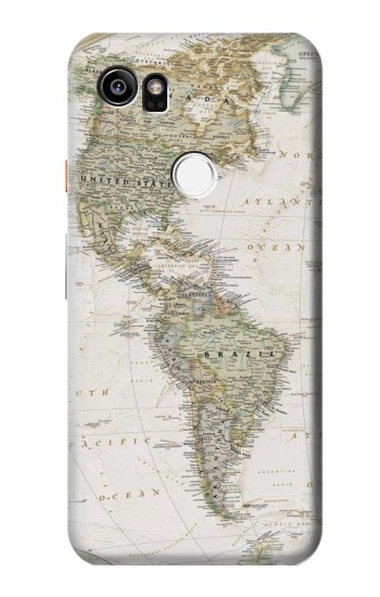 Printed World Map HTC One X9 Case