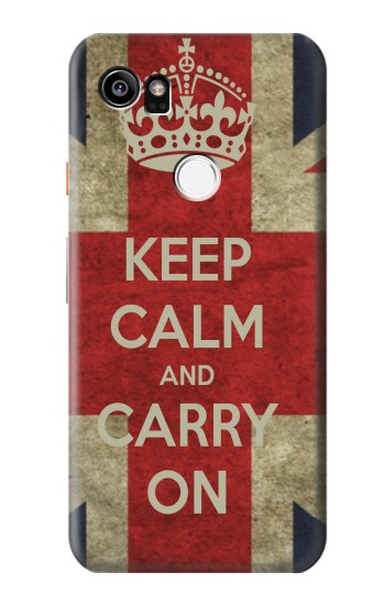 Printed Keep Calm and Carry On HTC One X9 Case