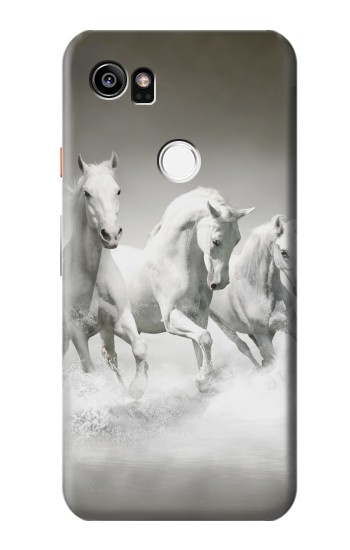 Printed White Horses HTC One X9 Case