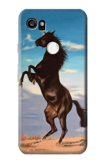 Printed Wild Black Horse HTC One X9 Case