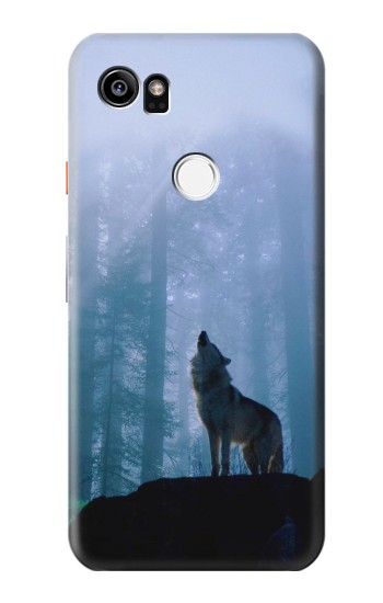 Printed Wolf Howling in Forest HTC One X9 Case