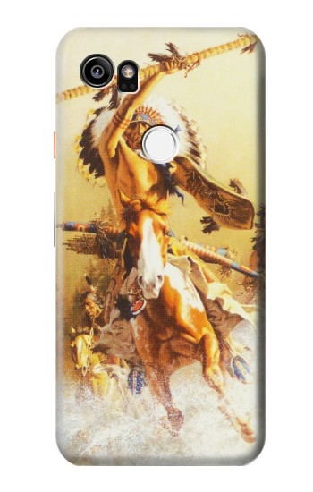 Printed Red Indian Warrior HTC One X9 Case