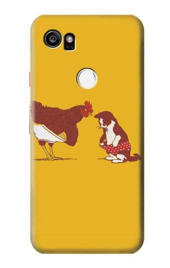 Printed Rooster and Cat Joke HTC One X9 Case