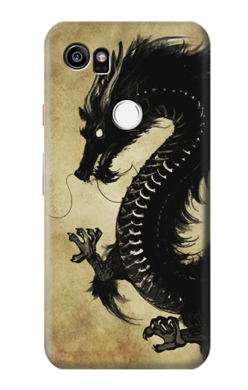 Printed Black Dragon Painting HTC One X9 Case