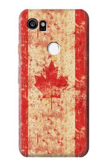 Printed Canada Flag Old Vintage HTC One X9 Case
