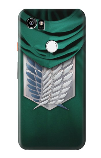 Printed Attack on Titan Scouting Legion Rivaille Green Cloak HTC One X9 Case