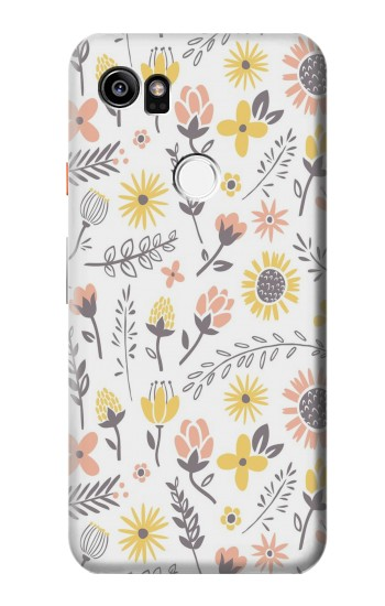 Printed Pastel Flowers Pattern HTC One X9 Case