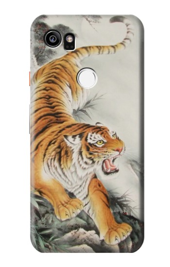 Printed Chinese Tiger Tattoo Painting HTC One X9 Case