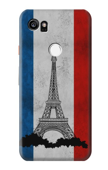 Printed Vintage France Flag Eiffel Tower HTC One X9 Case