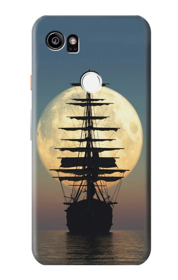 Printed Pirate Ship Moon Night HTC One X9 Case