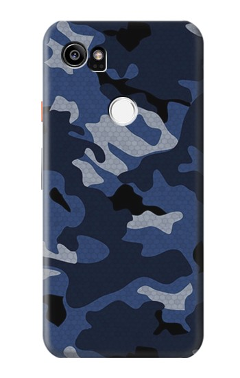 Printed Navy Blue Camouflage HTC One X9 Case