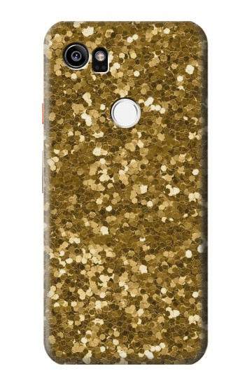 Printed Gold Glitter Graphic Print HTC One X9 Case