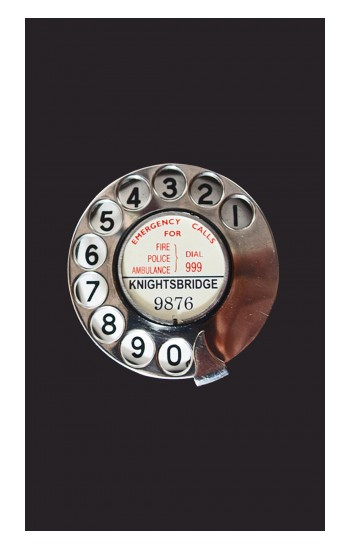 Printed Retro Rotary Phone Dial On POP Case