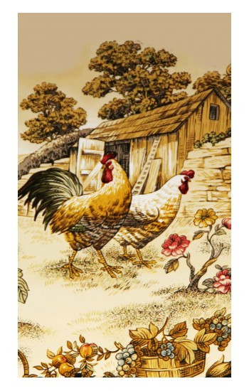 Printed French Country Chicken POP Case