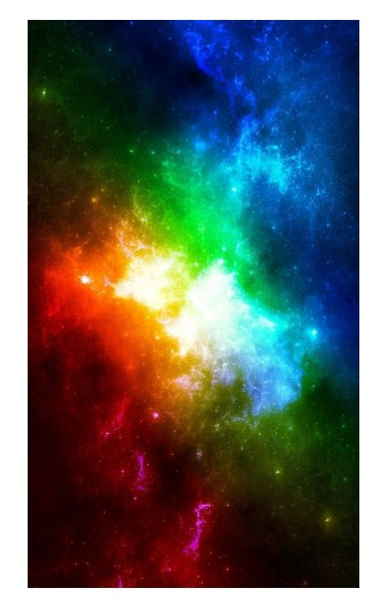Printed Colorful Rainbow Space Galaxy POP Case