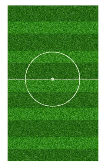 Printed Football Soccer Field POP Case