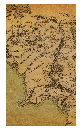 Printed The Lord Of The Rings Middle Earth Map POP Case