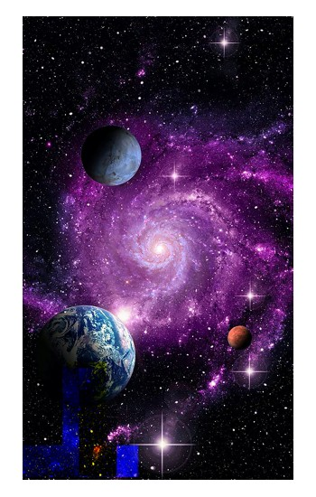 Printed Galaxy Outer Space Planet POP Case