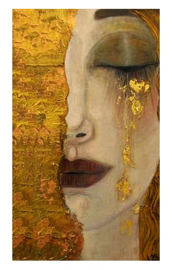 Printed Gustav Klimt Golden Tears iPad Pro 12.9 (2020) Case