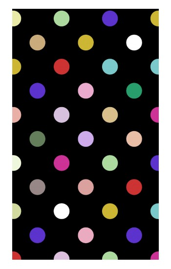 Printed Colorful Polka Dot iPad Pro 12.9 (2020) Case