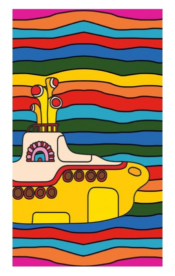 Printed Hippie Yellow Submarine iPad Pro 12.9 (2020) Case