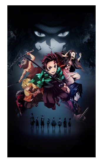 Printed Demon Slayer Kimetsu no Yaiba iPad Pro 12.9 (2020) Case