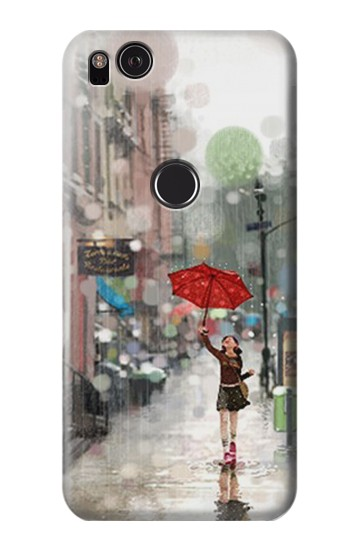 Printed Girl in The Rain HTC One S Case