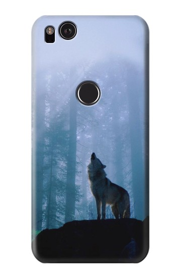 Printed Wolf Howling in Forest HTC One S Case