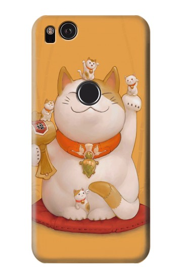 Printed Maneki Neko Lucky Cat HTC One S Case