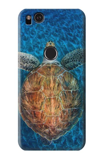 Printed Blue Sea Turtle HTC One S Case