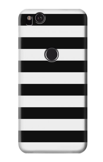 Printed Black and White Striped HTC One S Case