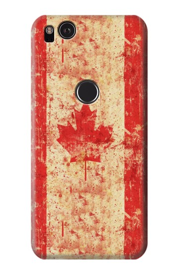 Printed Canada Flag Old Vintage HTC One S Case