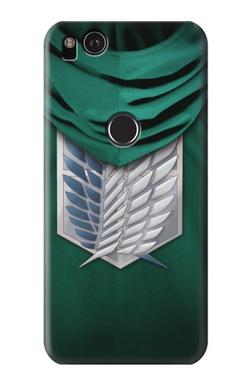 Printed Attack on Titan Scouting Legion Rivaille Green Cloak HTC One S Case