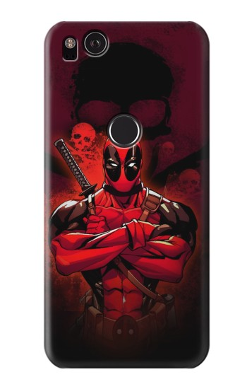 Printed Deadpool Skull HTC One S Case
